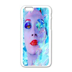 Swimming Into The Blue Apple Iphone 6/6s White Enamel Case by icarusismartdesigns