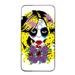 Gothic Sugar Skull Apple Iphone 4/4s Seamless Case (black) by burpdesignsA