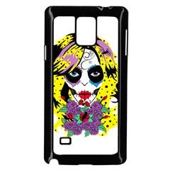 Gothic Sugar Skull Samsung Galaxy Note 4 Case (Black) by burpdesignsA