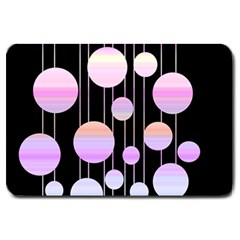 Pink Elegance  Large Doormat  by Valentinaart