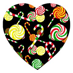 Xmas candies  Jigsaw Puzzle (Heart) by Valentinaart
