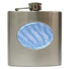 Wavy Clouds Hip Flask (6 Oz) by GiftsbyNature
