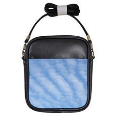 Wavy Clouds Girls Sling Bags by GiftsbyNature