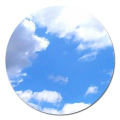 Clouds And Blue Sky Magnet 5  (round) by picsaspassion