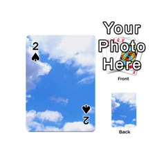 Clouds and blue sky Playing Cards 54 (Mini)  by picsaspassion
