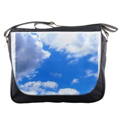 Clouds And Blue Sky Messenger Bags by picsaspassion