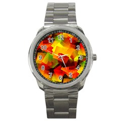 Indian Summer Cubes Sport Metal Watch by designworld65