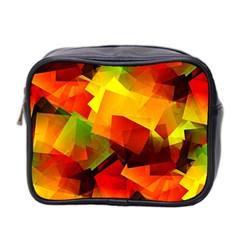 Indian Summer Cubes Mini Toiletries Bag 2 Side by designworld65