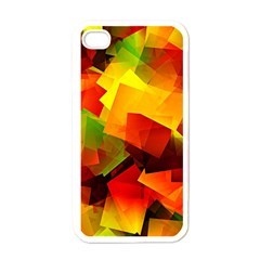 Indian Summer Cubes Apple Iphone 4 Case (white) by designworld65