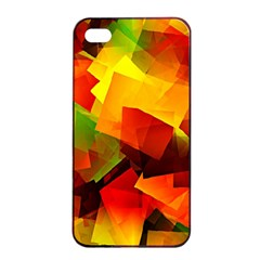 Indian Summer Cubes Apple Iphone 4/4s Seamless Case (black) by designworld65