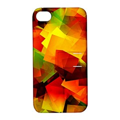 Indian Summer Cubes Apple Iphone 4/4s Hardshell Case With Stand by designworld65