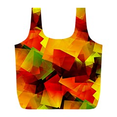 Indian Summer Cubes Full Print Recycle Bags (l)  by designworld65
