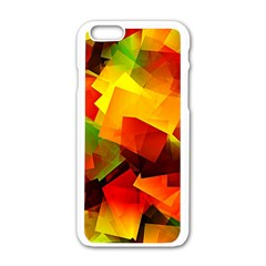 Indian Summer Cubes Apple Iphone 6/6s White Enamel Case by designworld65