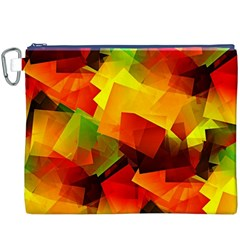 Indian Summer Cubes Canvas Cosmetic Bag (xxxl) by designworld65