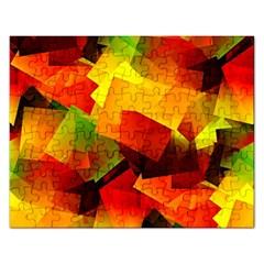 Indian Summer Cubes Rectangular Jigsaw Puzzl by designworld65