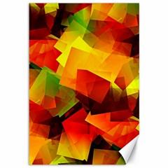 Indian Summer Cubes Canvas 12  X 18   by designworld65