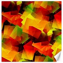 Indian Summer Cubes Canvas 16  X 16   by designworld65