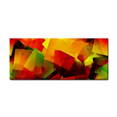 Indian Summer Cubes Hand Towel by designworld65