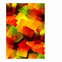 Indian Summer Cubes Small Garden Flag (two Sides) by designworld65