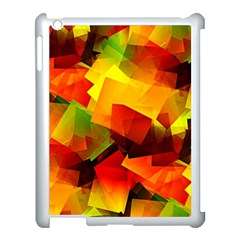 Indian Summer Cubes Apple Ipad 3/4 Case (white) by designworld65