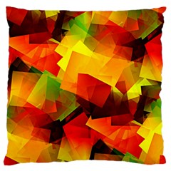 Indian Summer Cubes Standard Flano Cushion Case (one Side) by designworld65