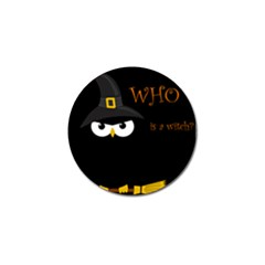 Who Is A Witch? Golf Ball Marker (4 Pack) by Valentinaart