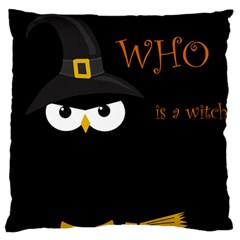 Who Is A Witch? Large Cushion Case (one Side) by Valentinaart