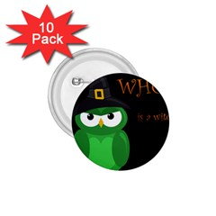 Who Is A Witch?   Green 1 75  Buttons (10 Pack) by Valentinaart