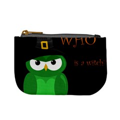 Who Is A Witch?   Green Mini Coin Purses by Valentinaart