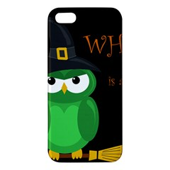 Who Is A Witch?   Green Apple Iphone 5 Premium Hardshell Case by Valentinaart
