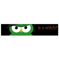 Who Is A Witch?   Green Flano Scarf (small) by Valentinaart