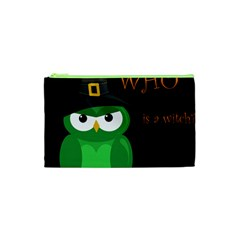 Who Is A Witch?   Green Cosmetic Bag (xs) by Valentinaart
