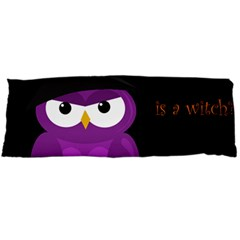 Who Is A Witch?   Purple Body Pillow Case (dakimakura) by Valentinaart