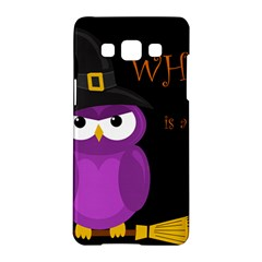 Who Is A Witch?   Purple Samsung Galaxy A5 Hardshell Case  by Valentinaart