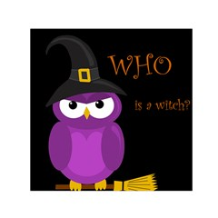 Who Is A Witch?   Purple Small Satin Scarf (square) by Valentinaart