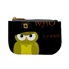 Who Is A Witch?   Yellow Mini Coin Purses by Valentinaart