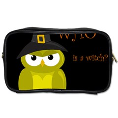 Who Is A Witch?   Yellow Toiletries Bags by Valentinaart