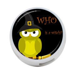 Who Is A Witch?   Yellow 4 Port Usb Hub (one Side) by Valentinaart
