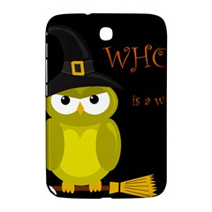 Who Is A Witch?   Yellow Samsung Galaxy Note 8 0 N5100 Hardshell Case  by Valentinaart