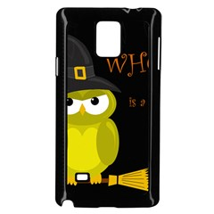 Who Is A Witch?   Yellow Samsung Galaxy Note 4 Case (black) by Valentinaart