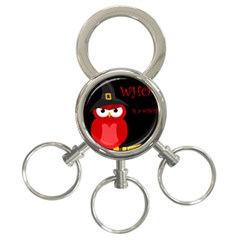 Who Is A Witch?   Red 3 Ring Key Chains by Valentinaart