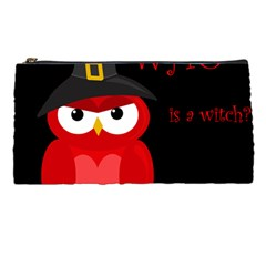 Who is a witch? - red Pencil Cases by Valentinaart