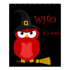 Who Is A Witch?   Red Shower Curtain 60  X 72  (medium)  by Valentinaart