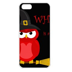Who Is A Witch?   Red Apple Iphone 5 Seamless Case (white) by Valentinaart