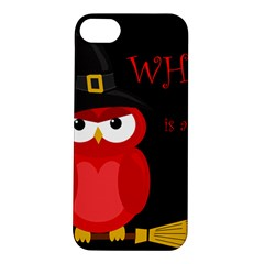 Who Is A Witch?   Red Apple Iphone 5s/ Se Hardshell Case by Valentinaart