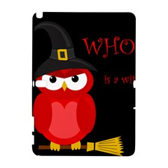 Who Is A Witch?   Red Samsung Galaxy Note 10 1 (p600) Hardshell Case by Valentinaart