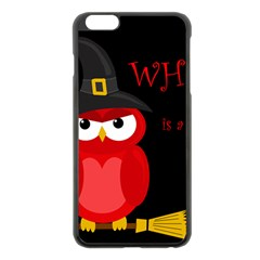 Who Is A Witch?   Red Apple Iphone 6 Plus/6s Plus Black Enamel Case by Valentinaart