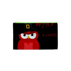 Who Is A Witch?   Red Cosmetic Bag (xs) by Valentinaart