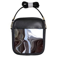 Metallic And Chrome Girls Sling Bags by theunrulyartist