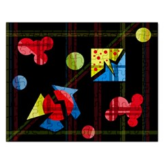 Playful Day Rectangular Jigsaw Puzzl by Valentinaart